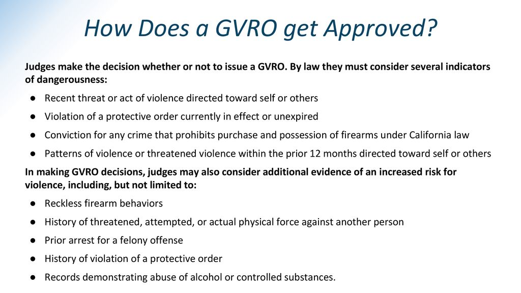 How Does a GVRO get Approved