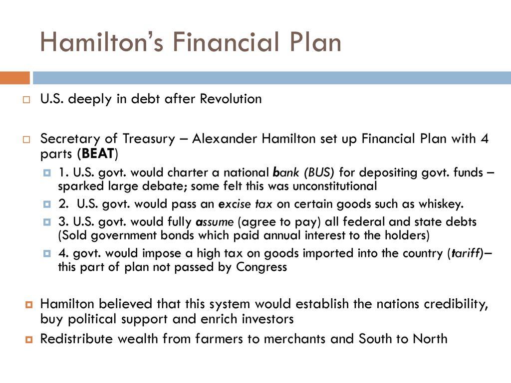 hamiltons financial plan 4 parts