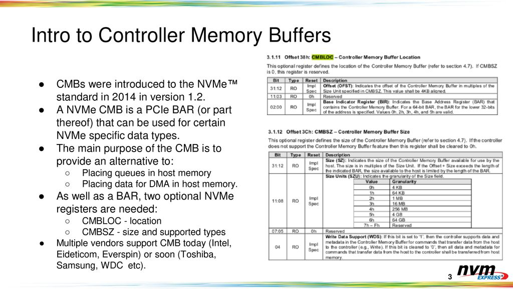 Enabling the NVMe™ CMB and PMR Ecosystem - ppt download
