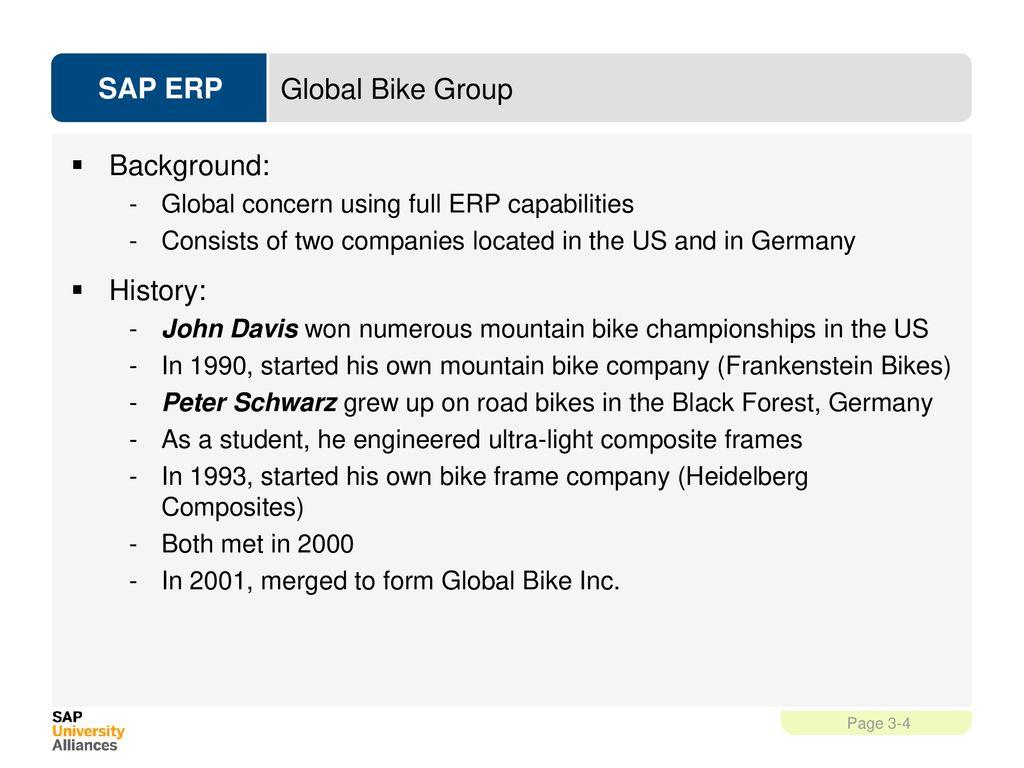 Global Bike Inc  SAP University Alliances Authors Simha Magal - ppt