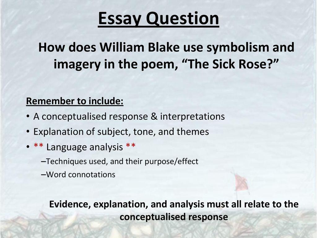 the sick rose william blake paraphrase