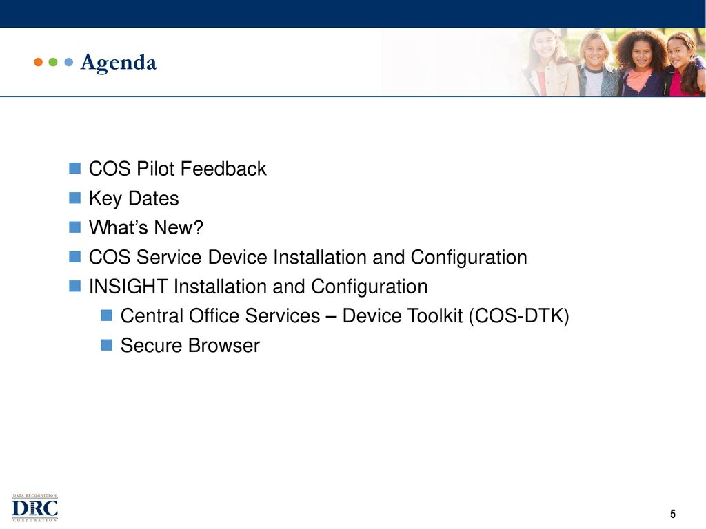 DRC INSIGHT and COS Installation Training - ppt download