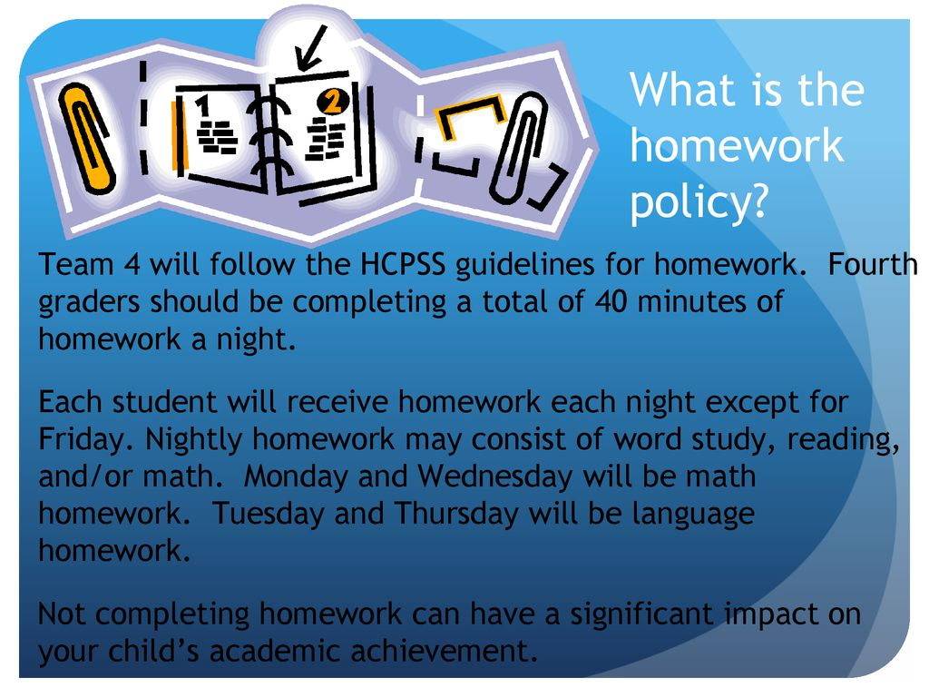 hcpss homework policy