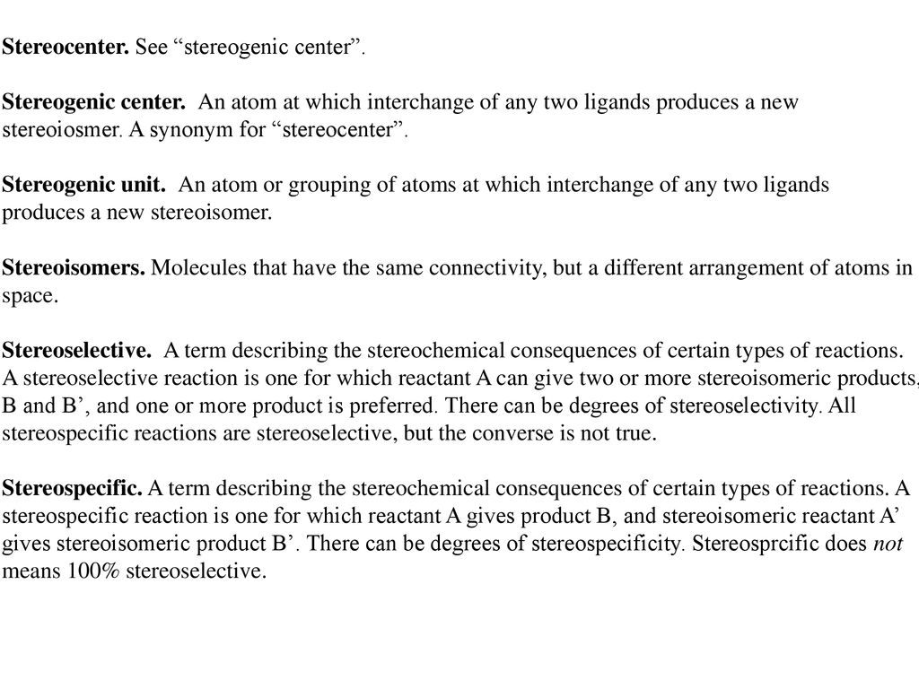Stereochemistry Chapter Stereogenicity and stereoisomerism