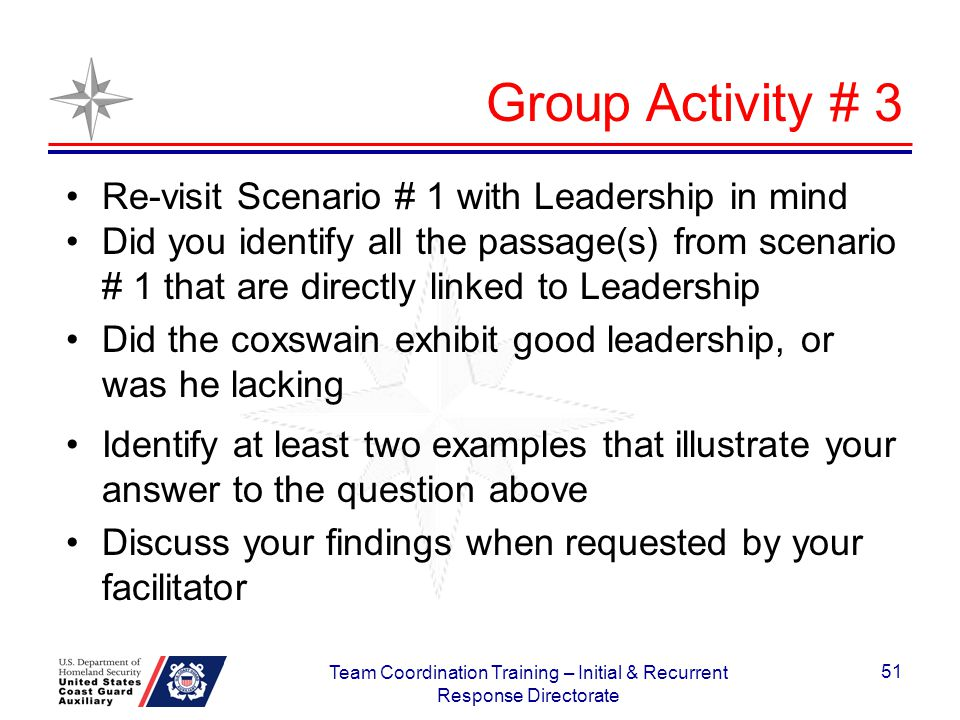 team coordination training initial and recurrent training