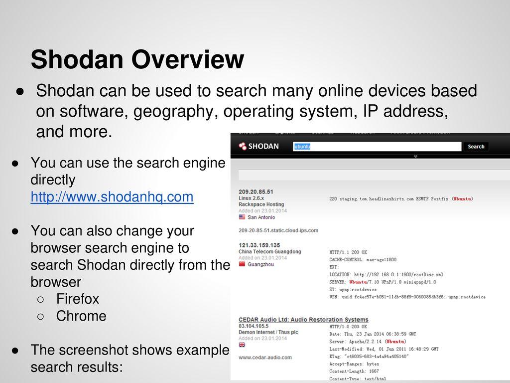 Shodan  - ppt download