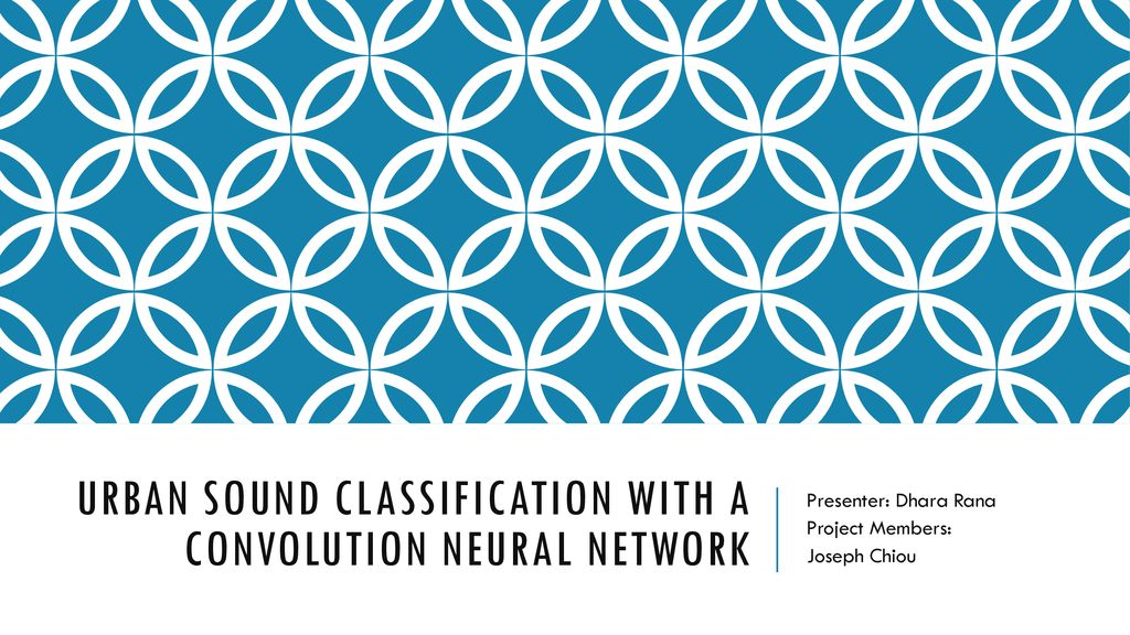 Urban Sound Classification with a Convolution Neural Network