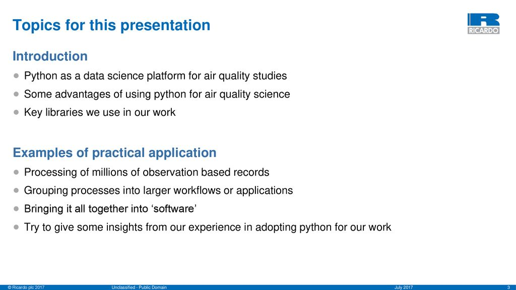 Python as a data science platform for air quality studies - ppt download