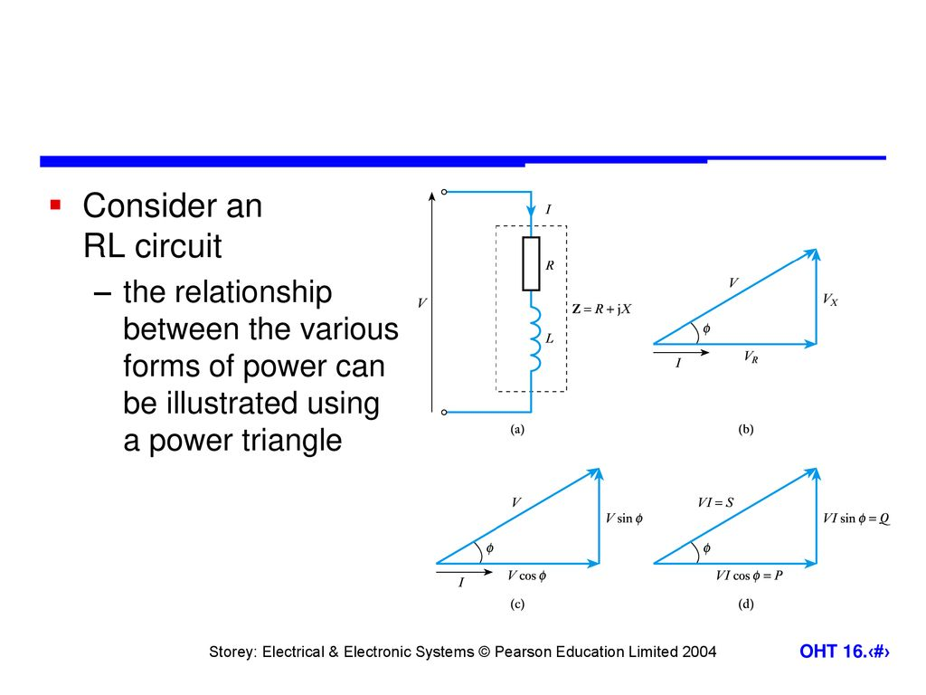 Power In Ac Circuits Introduction Resistive Components Circuit Diagram Triangle 14 Consider An Rl