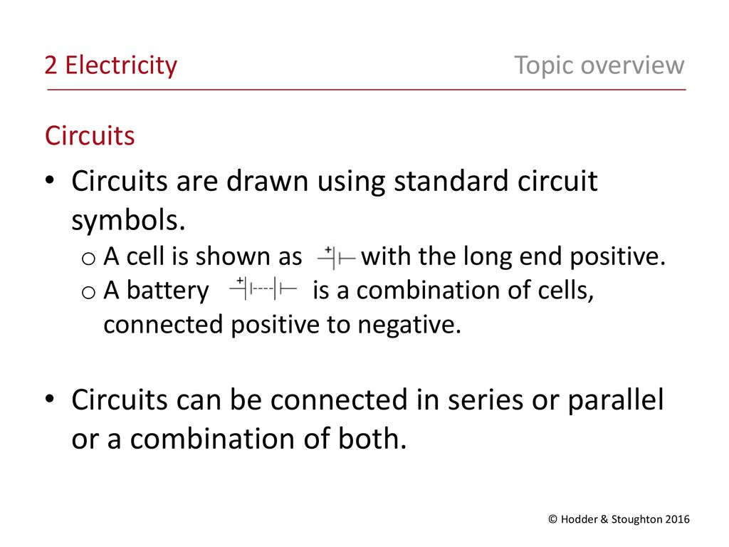 Circuits Are Drawn Using Standard Circuit Symbols Ppt Download Parallel The Cells Connected In All