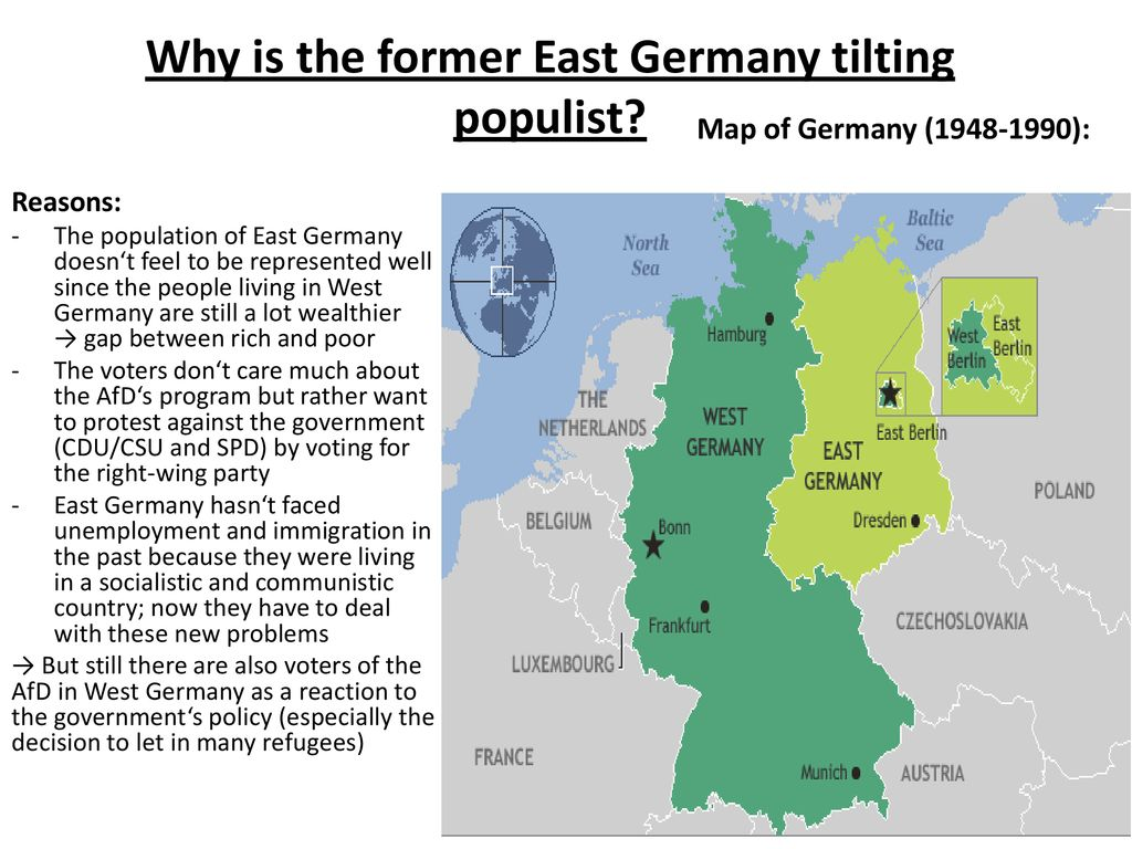 East and West Germany National Borders 27 years after the ...