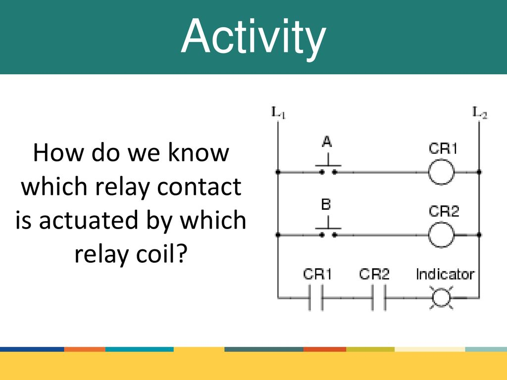 How do we know which relay contact is actuated by which relay coil