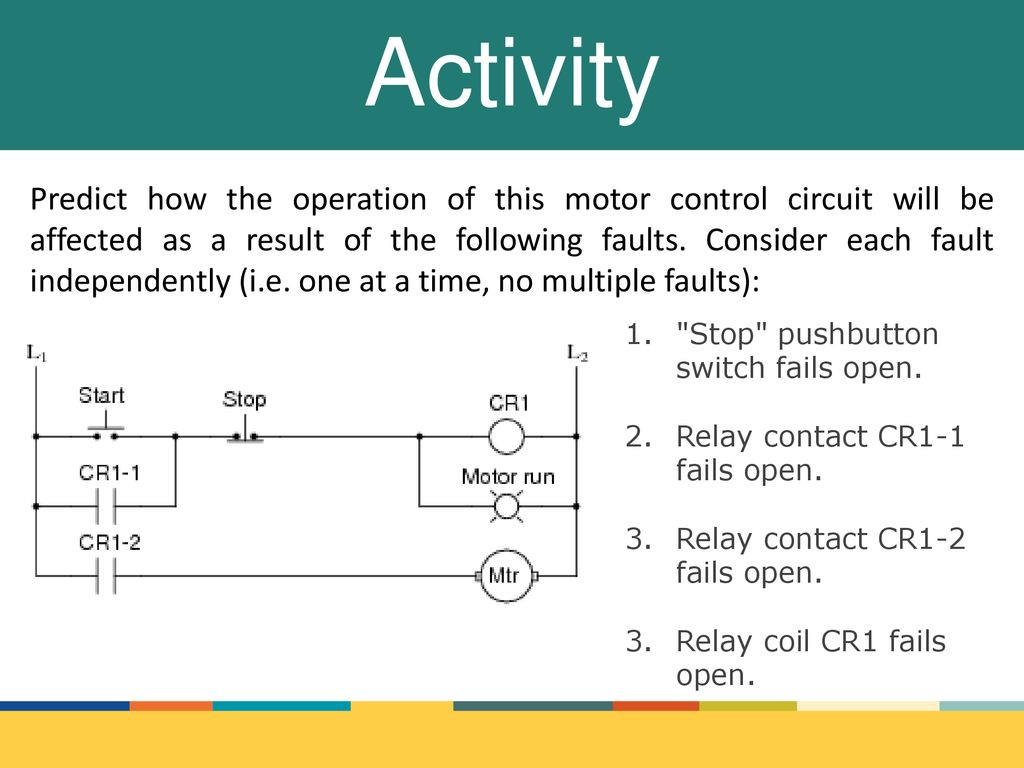 Industrial Electronics Ppt Download Push Button Motor Control Circuit 1 14 Activity Predict How The Operation Of This