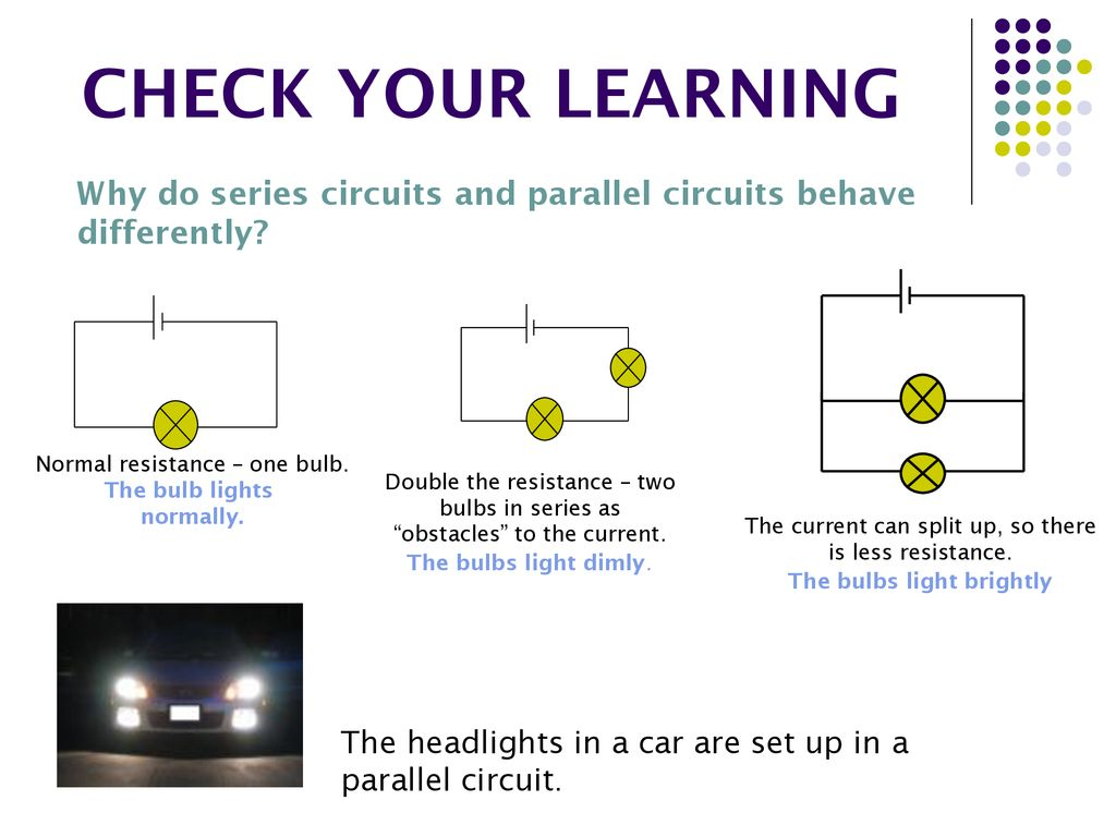 Electrical Circuits In This Topic We Will Be Learning About Ppt Bulbs Series Circuit Check Your Why Do And Parallel Behave Differently Normal Resistance One