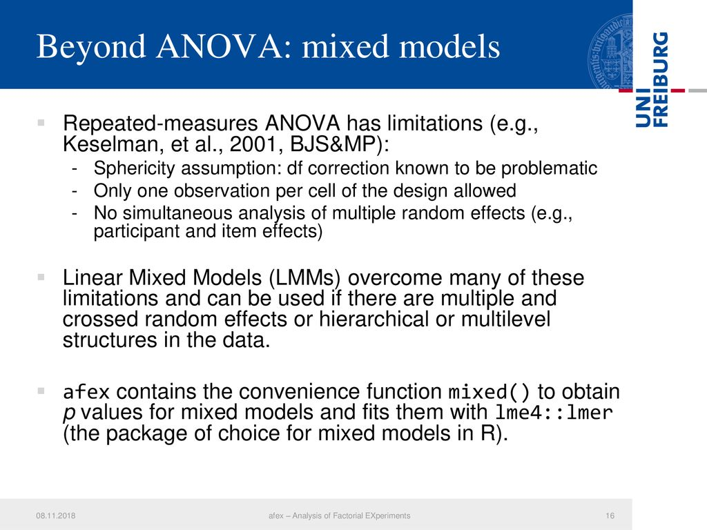 afex – Analysis of Factorial EXperiments - ppt download