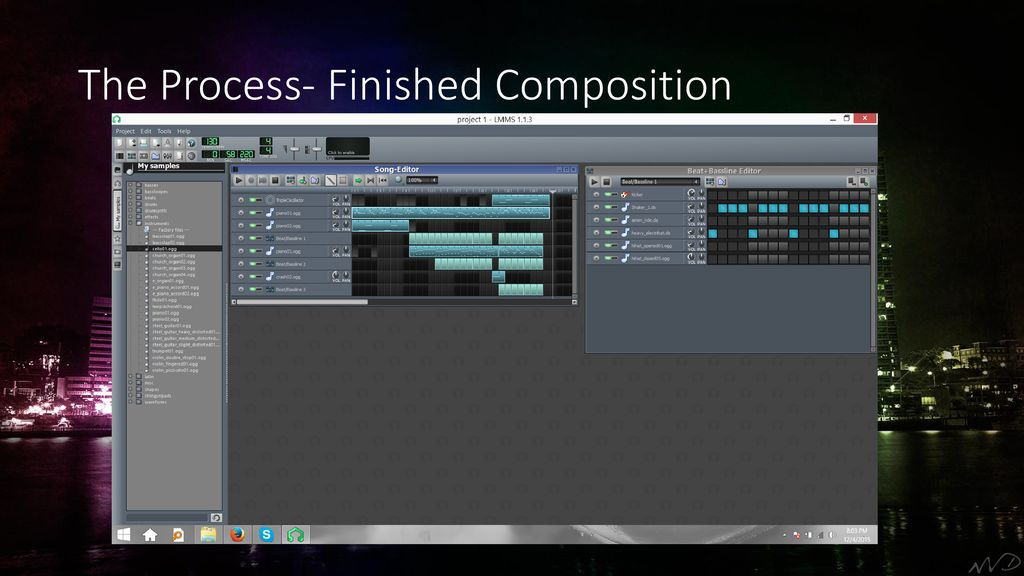Music Composition and Audio Spectrum using LMMS and Adobe
