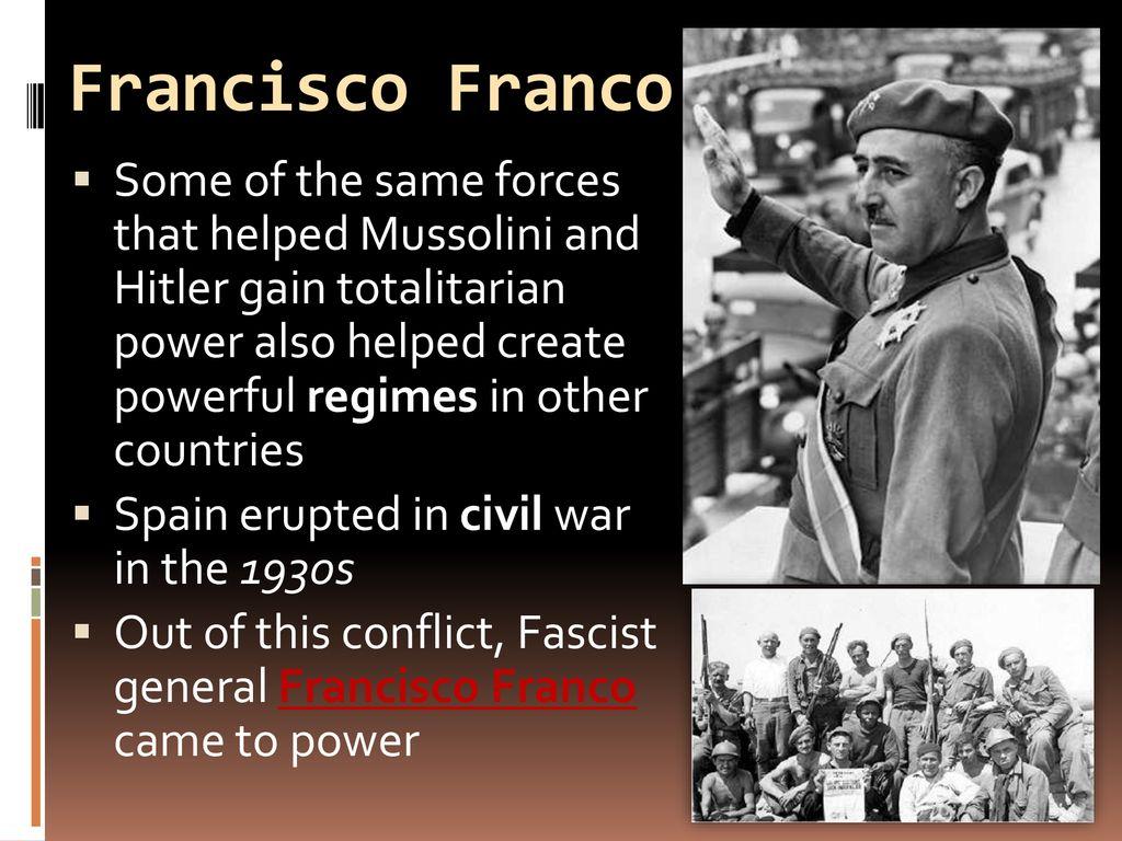 how did francisco franco gain power