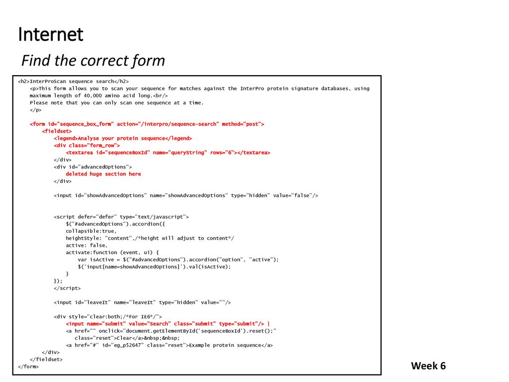 Week 6 Topics Internet interaction APIs REST services XML
