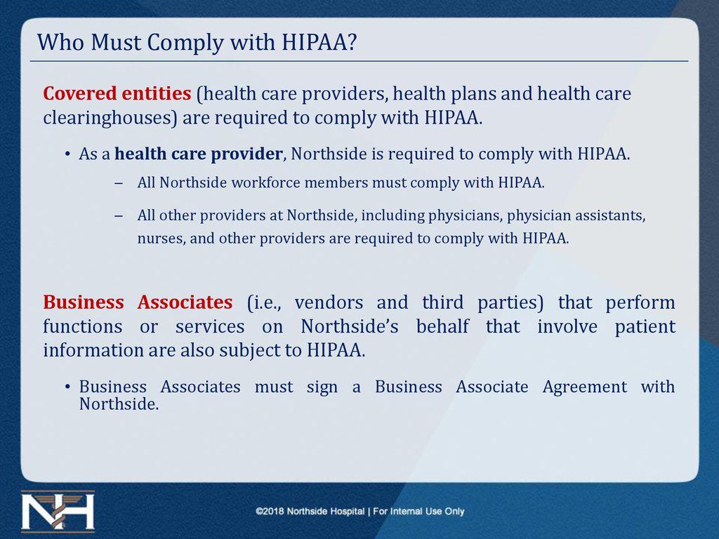Northside Hospital 2018 HIPAA Training (Annual/New Hire