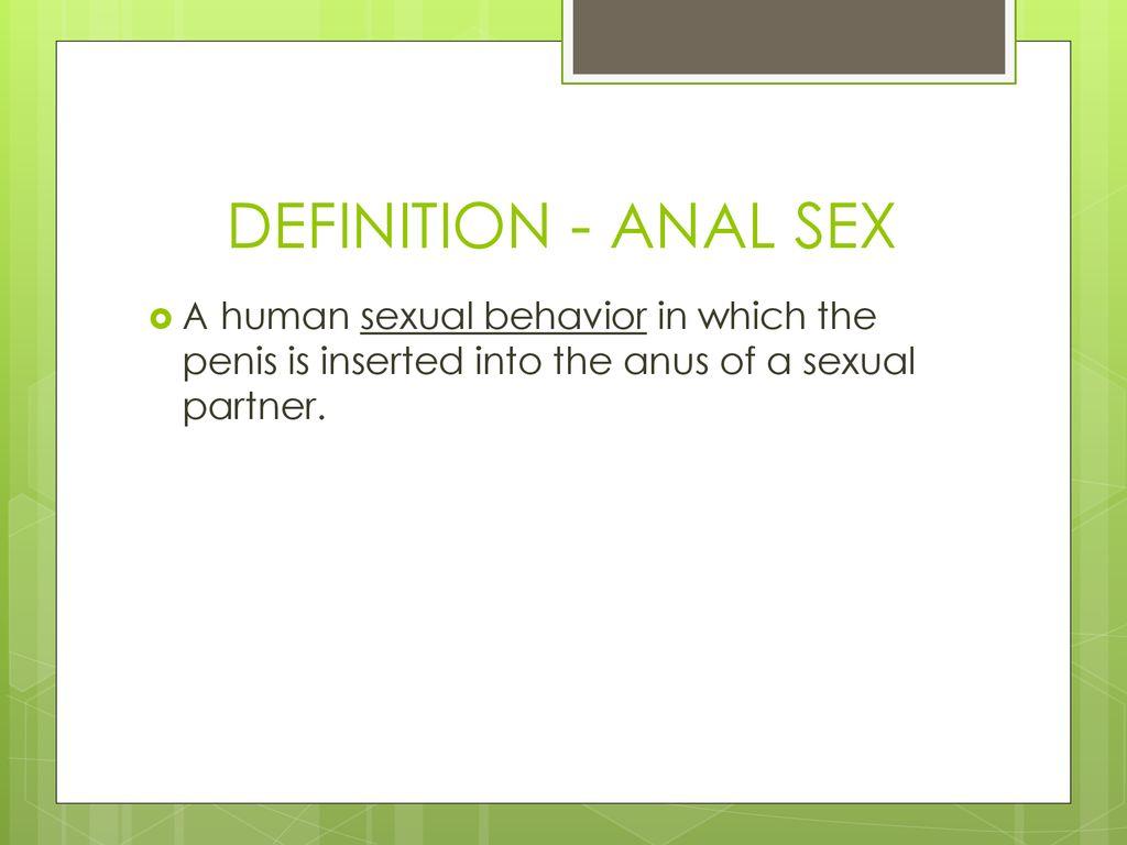 ødelægger anal sex dig