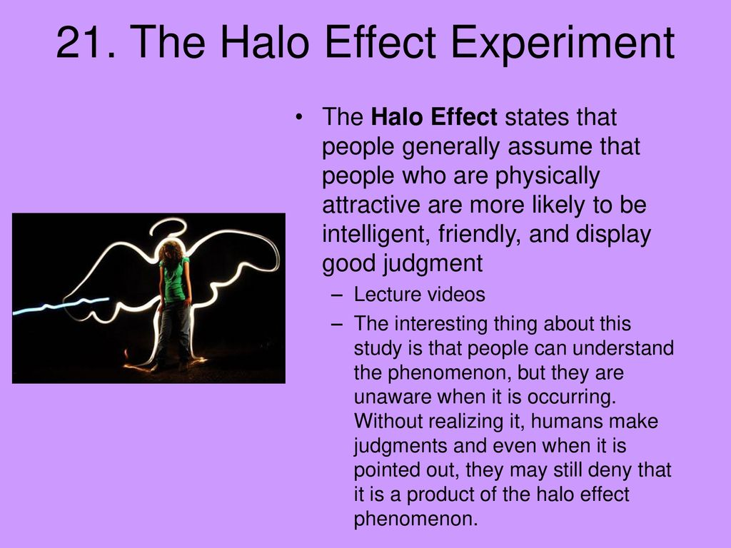 halo effect experiment