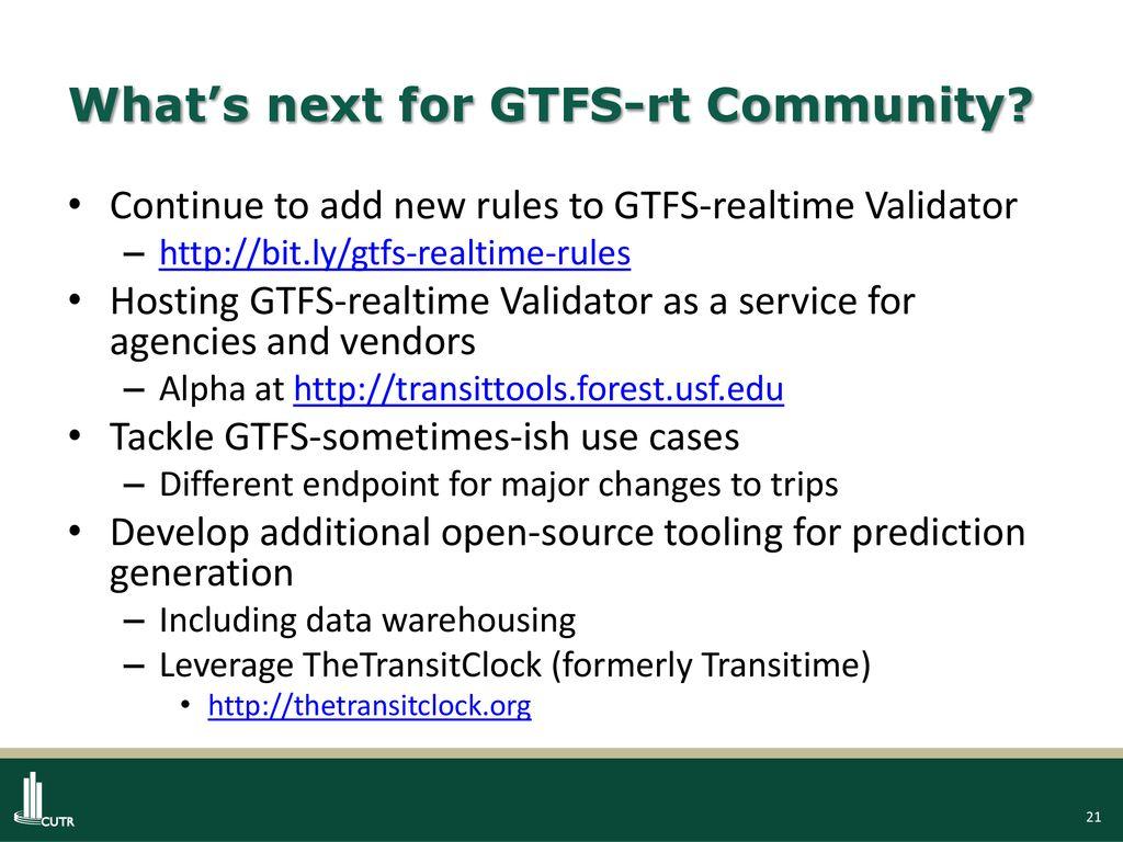 GTFS-realtime v2 0 Sean J  Barbeau, Ph D  - ppt download
