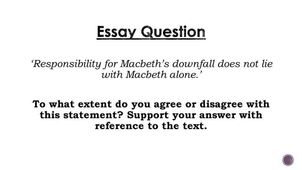 macbeth essay question   ppt download essay question