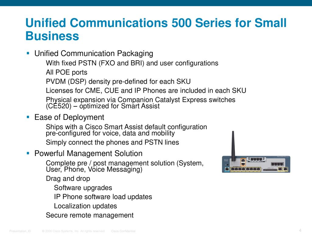 Introduction of UC500 Cisco Unified Communications 500 Series - ppt