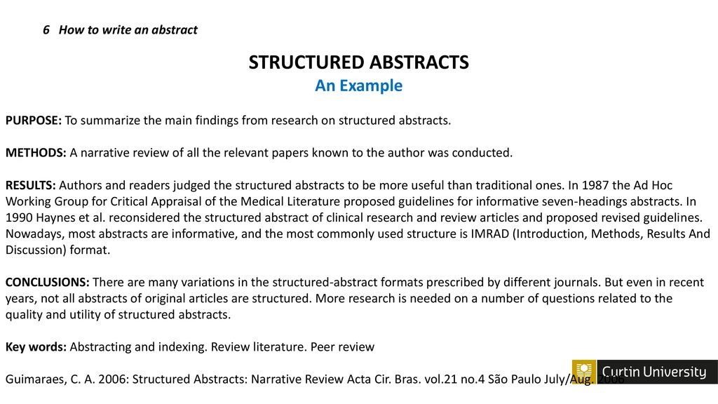 how to write an abstract on an article