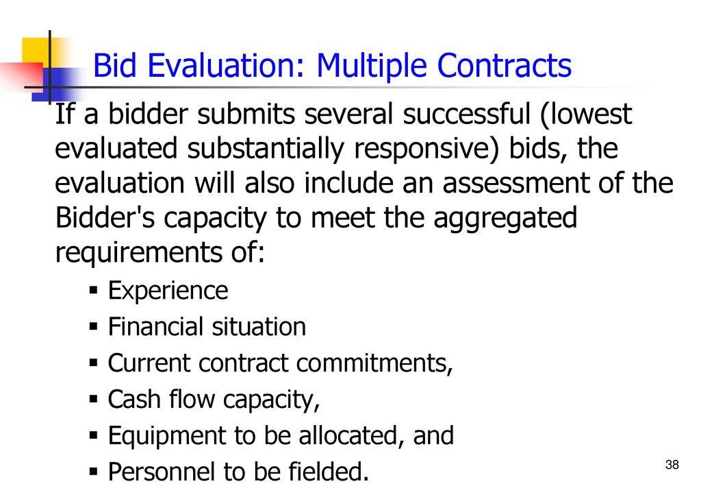 Bid Evaluation and Award - ppt download
