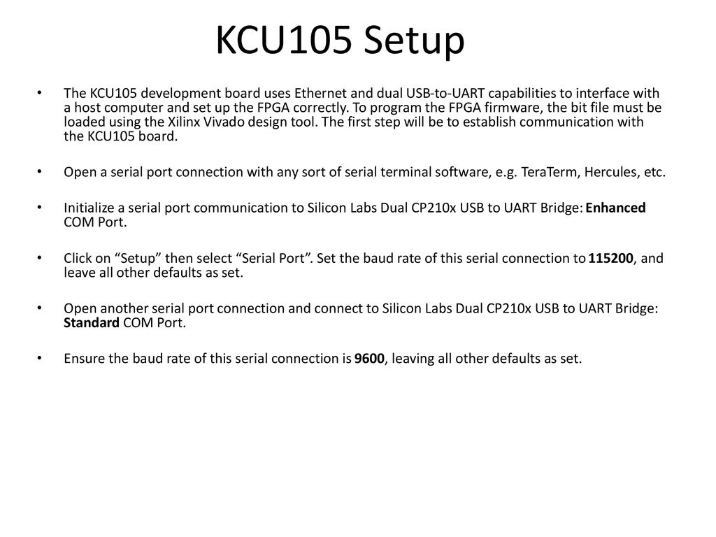 ADC32RF45 with KCU105 Internal Clock GHz  - ppt download