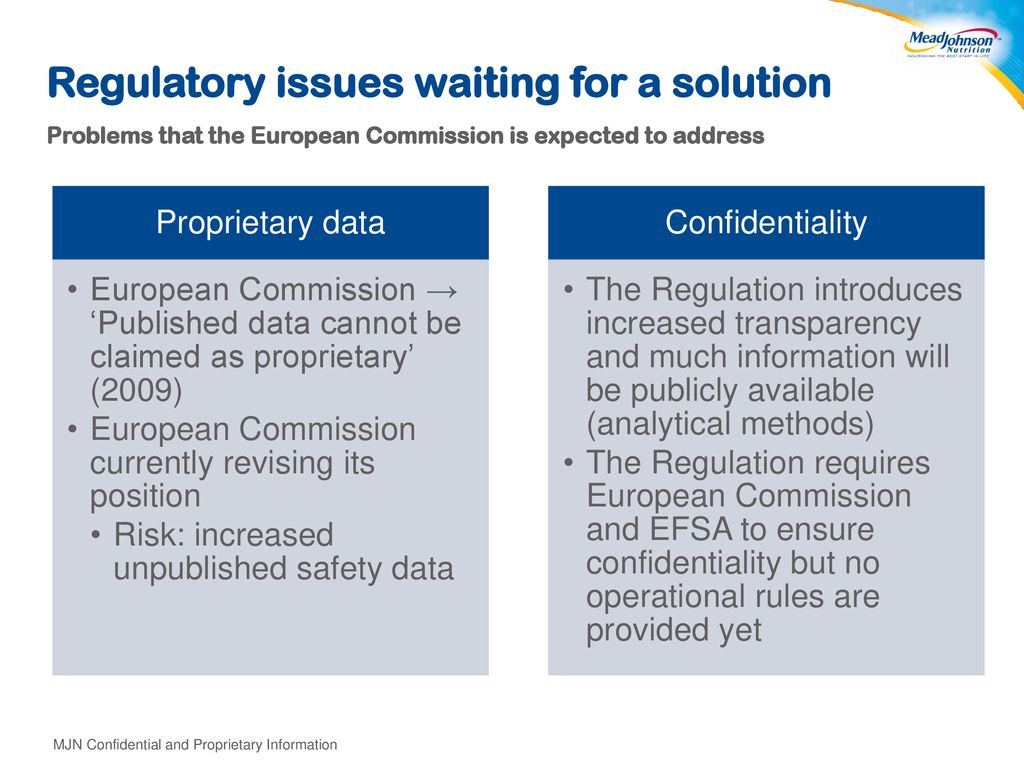 Regulatory issues waiting for a solution