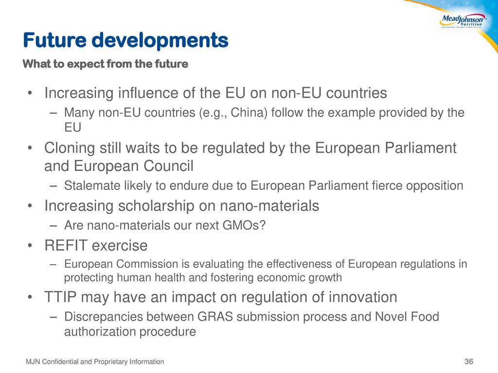 Future developments Increasing influence of the EU on non-EU countries
