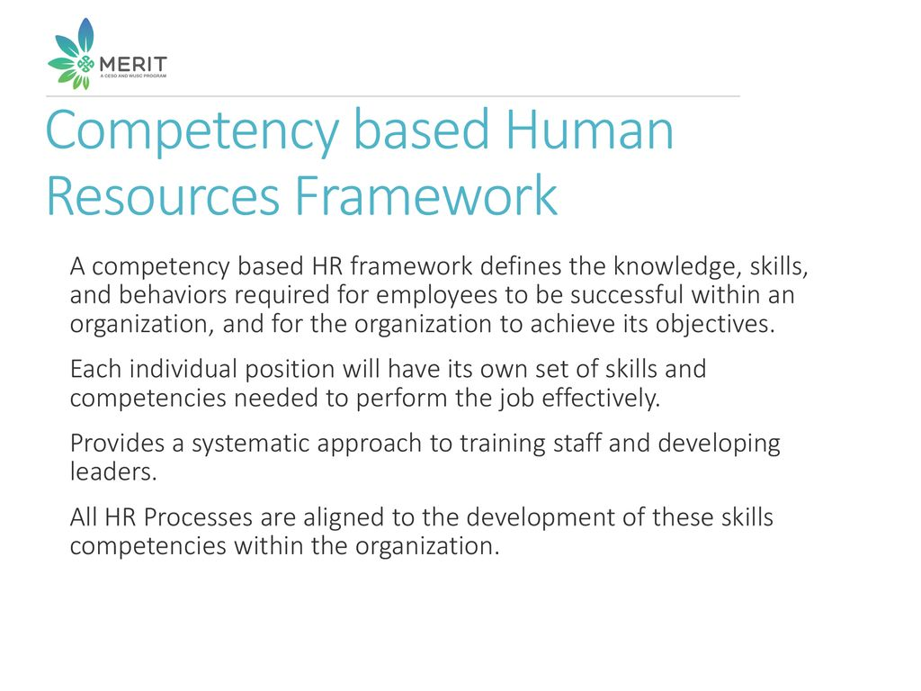Human Resources Competency Framework - ppt download