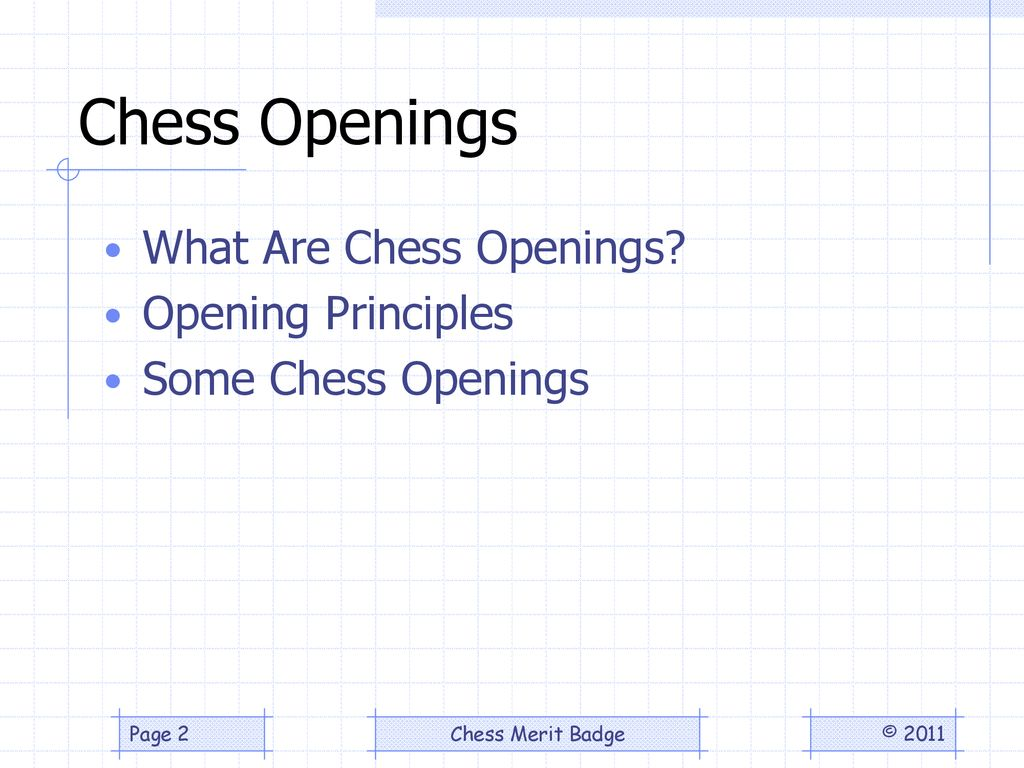 Chess Opening Principles - ppt download