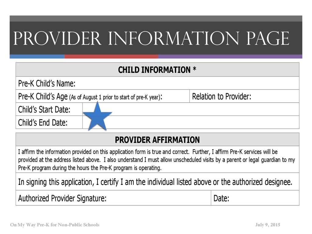 On My Way Pre K Provider Information Ppt Download