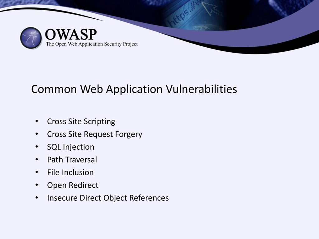 Less Known Web Application Vulnerabilities - ppt download