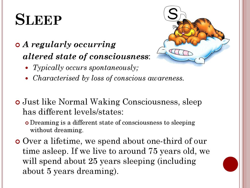 Sleep Year 12 Psychology Unit 3 – The Conscious Self - ppt
