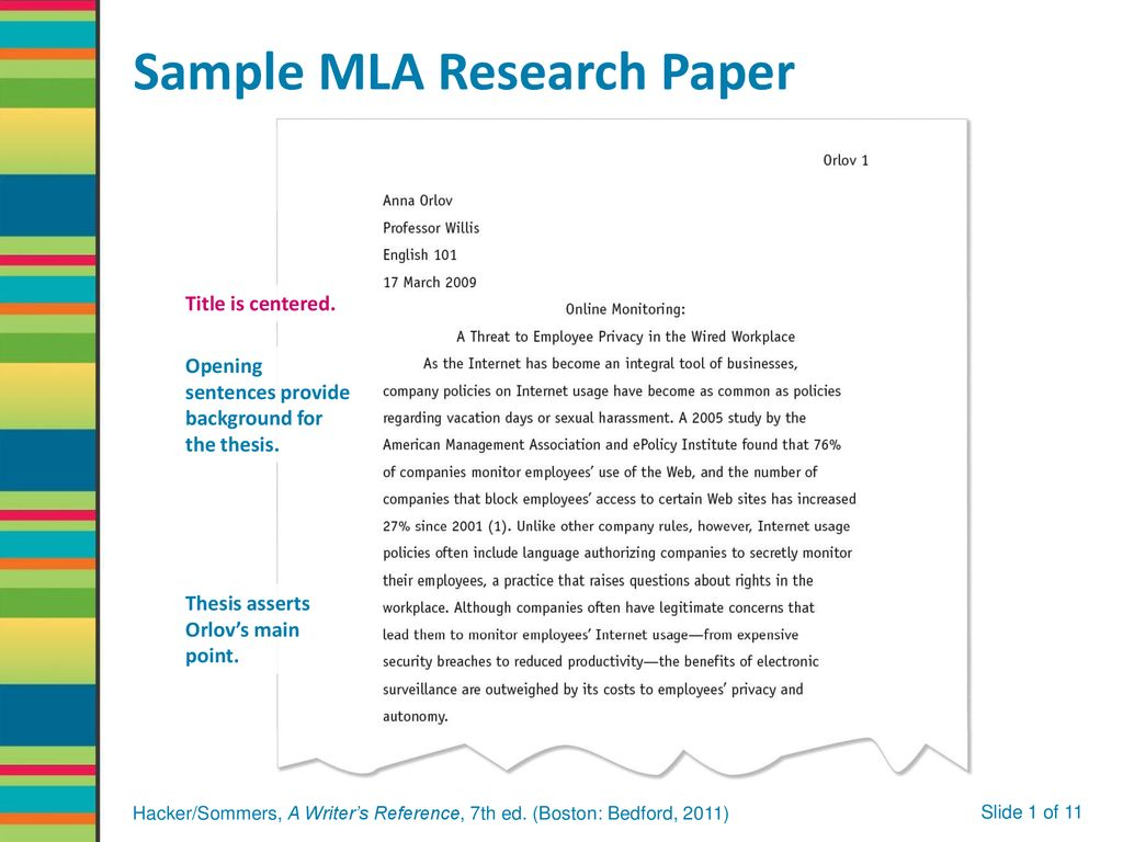 mla for research paper