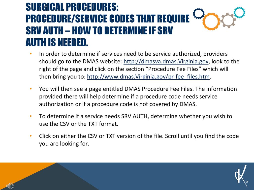 Service authorization for surgical procedures - ppt download