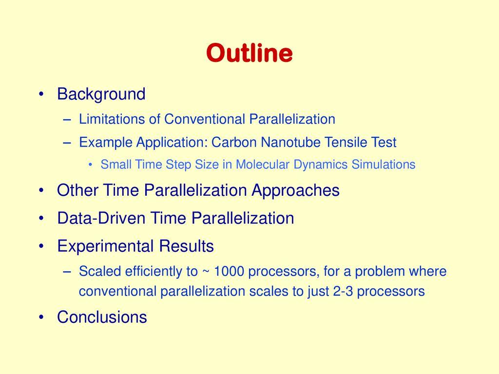 Long-Time Molecular Dynamics Simulations in Nano-Mechanics