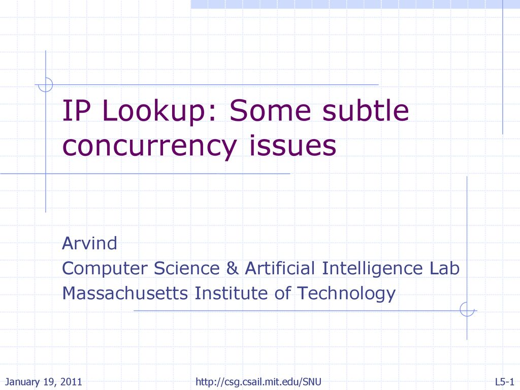 IP Lookup: Some subtle concurrency issues - ppt download