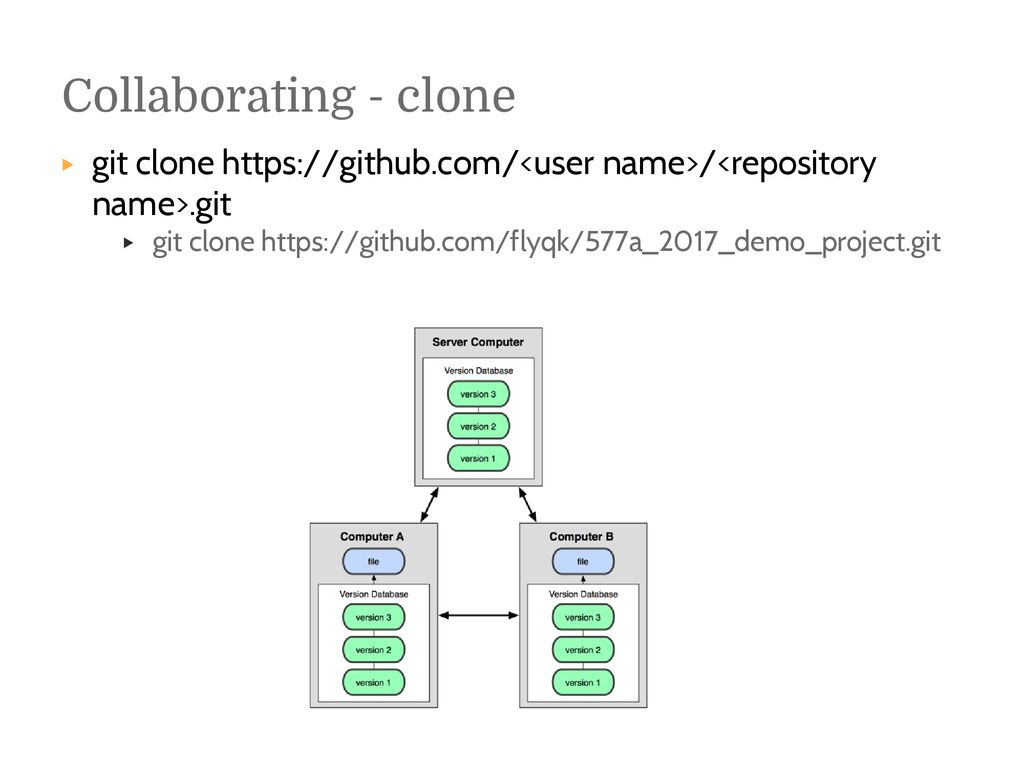 git clone different name
