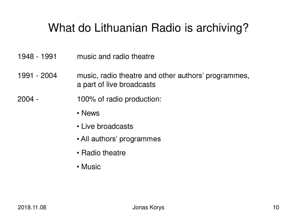 LITHUANIAN NATIONAL RADIO & TELEVISION - ppt download