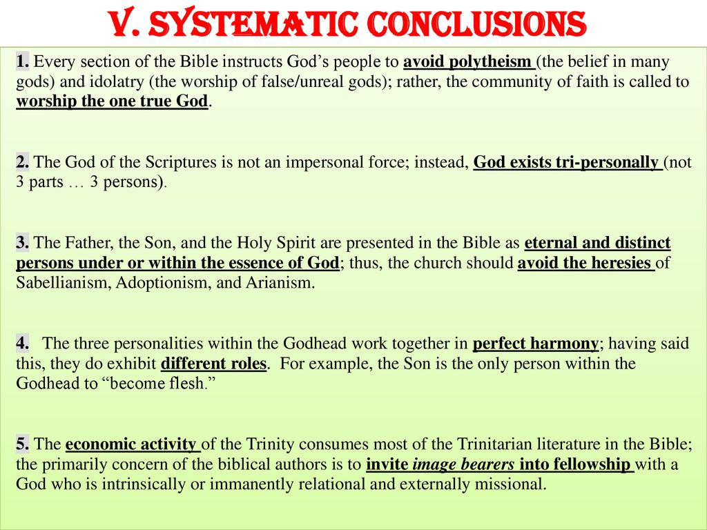 THE TRINITY THEOLOGY MATTERS  - ppt download