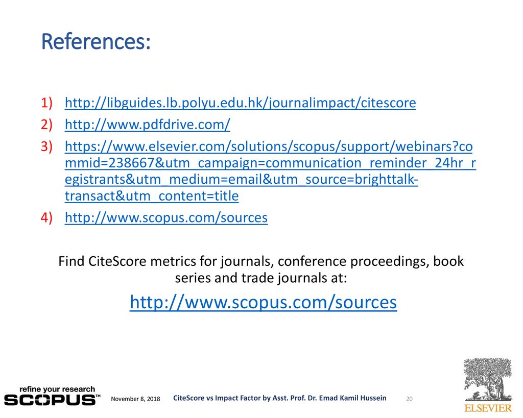 CiteScore vs Impact Factor How to improve research quality? - ppt