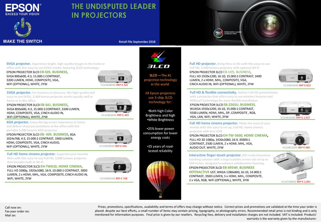 THE UNDISPUTED LEADER IN PROJECTORS MAKE THE SWITCH - ppt download