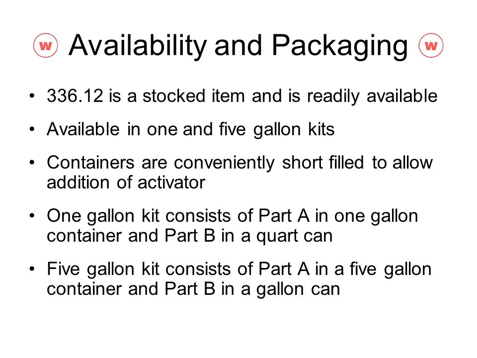 Availability and Packaging