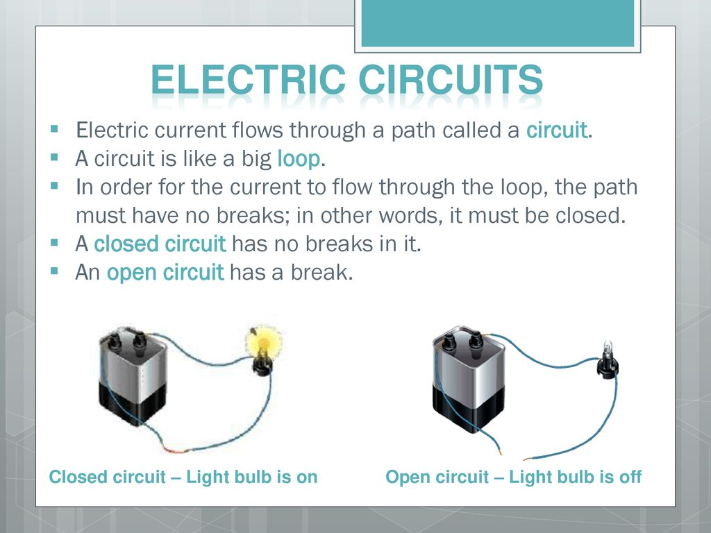Transformation Of Electrical Energy Ppt Download Build A Circuit Is Path That Electricity Flows Along It 12 Electric Circuits Current Through
