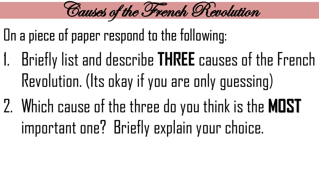 which was a cause of the french revolution